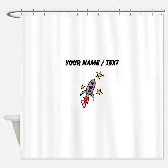 Space Ship (Custom) Shower Curtain