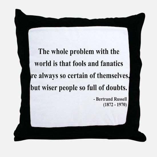 Bertrand Russell 2 Throw Pillow