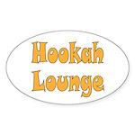 Hookah Lounge Sticker (Oval 50 pk)