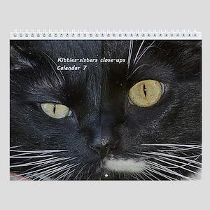 Kitties-Sisters Close-Ups 7 Wall Calendar