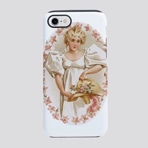Girl with Flowers iPhone 7 Tough Case