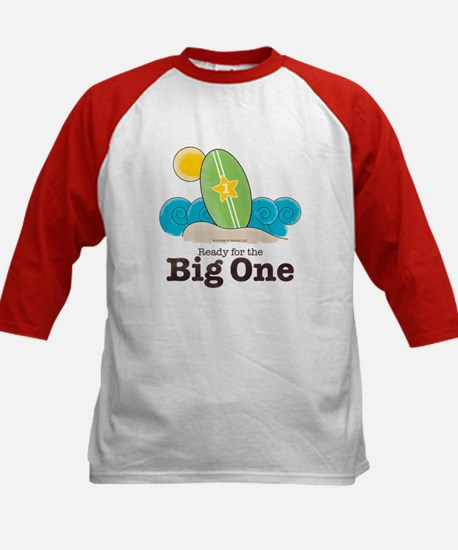 The Big One Surf Kids Red Baseball Jersey