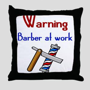 Barber Throw Pillow