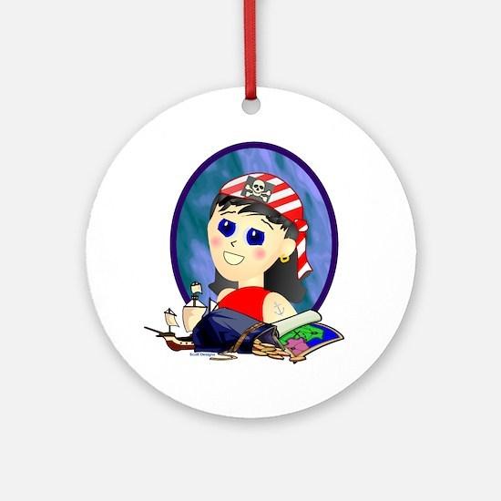 Pirate Profile Ornament (Round)