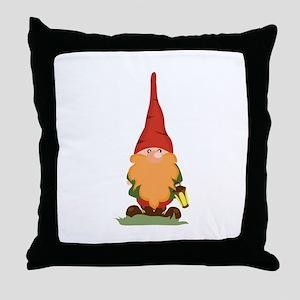 The Gnome Throw Pillow