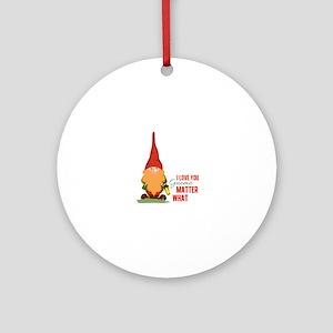 I Love You Gnome Ornament (Round)