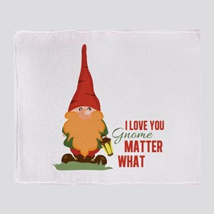 I Love You Gnome Throw Blanket