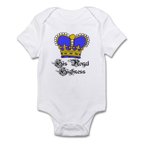 His Royal Highness Blue Crown Baby/ Bodysuit