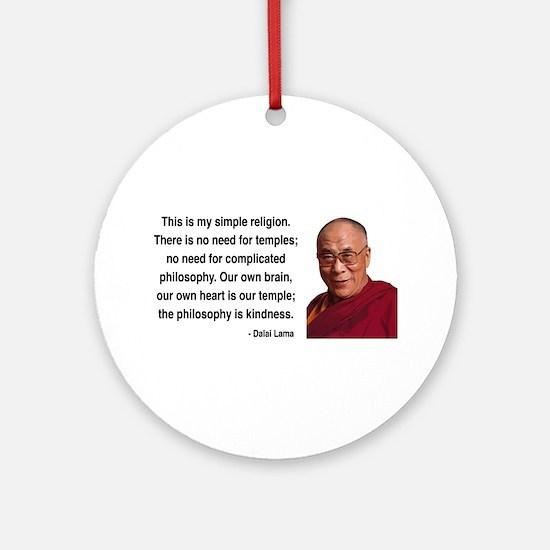 Dalai Lama 1 Ornament (Round)