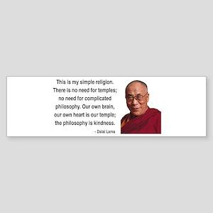 Dalai Lama 1 Bumper Sticker