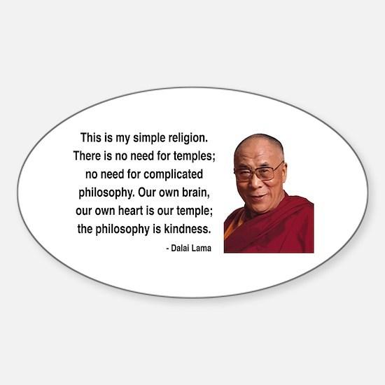 Dalai Lama 1 Oval Decal