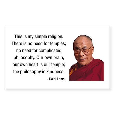 Dalai Lama 1 Rectangle Sticker