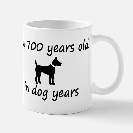 100 dog years black dog 2 Mugs