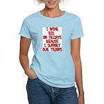 I wear Red Women's Light T-Shirt