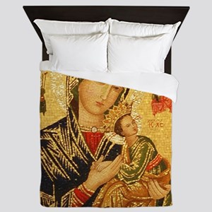 Our Lady of Perpetual Help Queen Duvet