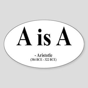 Aristotle 6 Oval Sticker