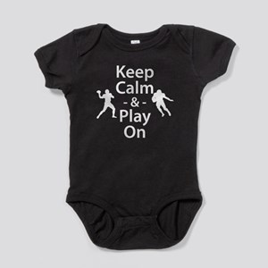 Keep Calm and Play On (Football) Baby Bodysuit