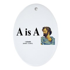 Aristotle 6 Oval Ornament