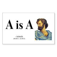 Aristotle 6 Rectangle Decal