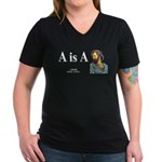 Aristotle 6 Women's V-Neck Dark T-Shirt