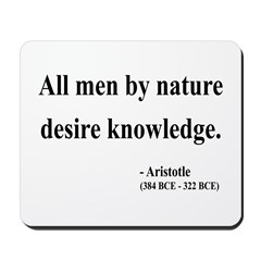 Aristotle 5 Mousepad