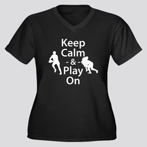Keep Calm and Play On (Rugby) Plus Size T-Shirt