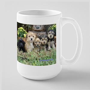 Five Yorkiepoo Puppies Large Mug!