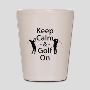 Keep Calm and Golf On Shot Glass