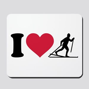 I love Cross-country skiing Mousepad