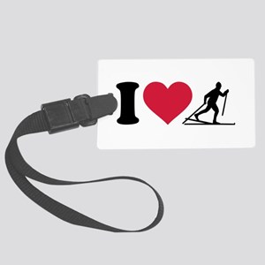 I love Cross-country skiing Large Luggage Tag
