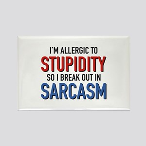 I'm Allergic To Stupidity Rectangle Magnet