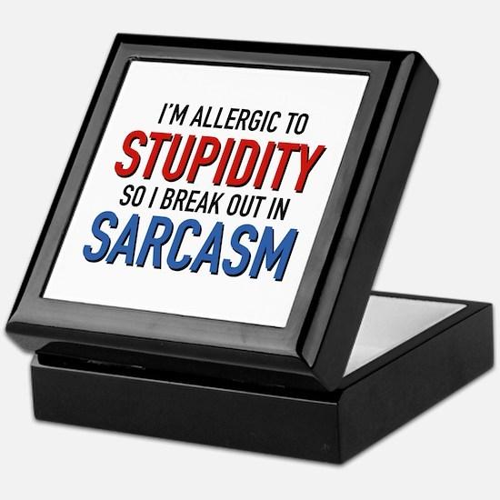 I'm Allergic To Stupidity Keepsake Box