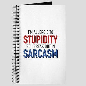 I'm Allergic To Stupidity Journal