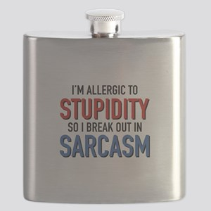I'm Allergic To Stupidity Flask