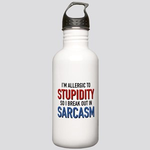 I'm Allergic To Stupidity Stainless Water Bottle 1