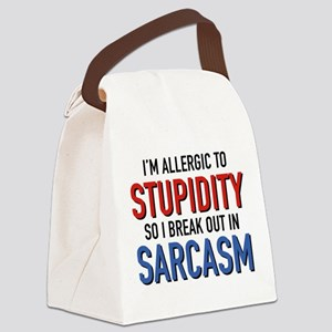 I'm Allergic To Stupidity Canvas Lunch Bag