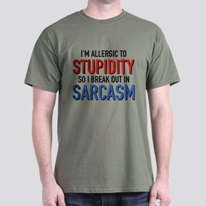I'm Allergic To Stupidity Dark T-Shirt
