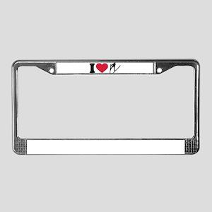 I love ski jumping License Plate Frame