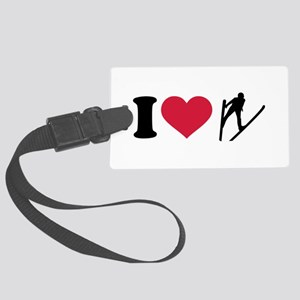 I love ski jumping Large Luggage Tag
