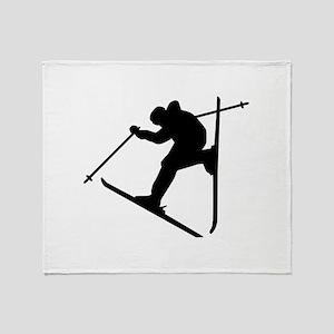 Freestyle ski Throw Blanket
