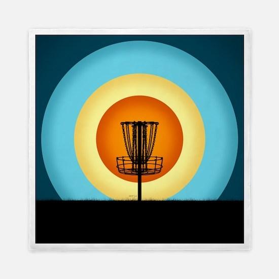 Colorful Disc Golf Basket Queen Duvet