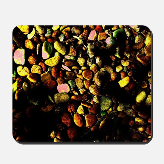 Neon Mossy Pebbles Mousepad