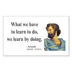 Aristotle 2 Rectangle Decal