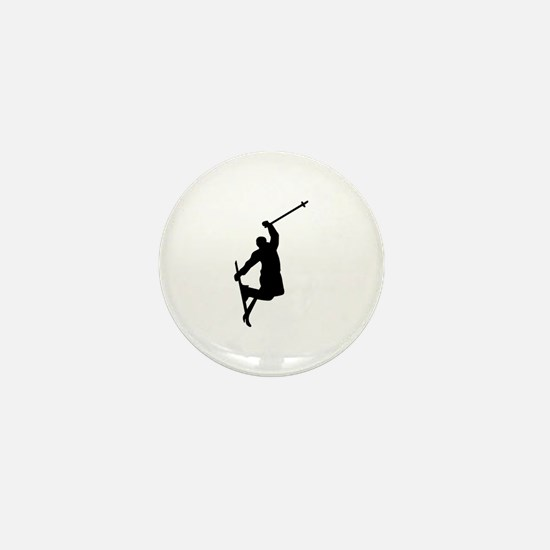 Freestyle ski jump Mini Button