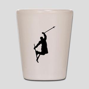 Freestyle ski jump Shot Glass