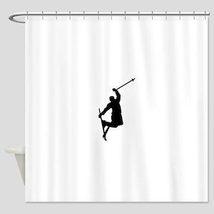 Freestyle ski jump Shower Curtain