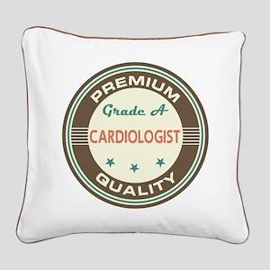 Cardiologist Vintage Square Canvas Pillow