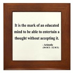 Aristotle 1 Framed Tile