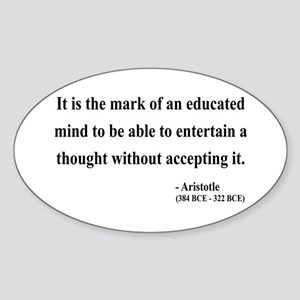 Aristotle 1 Oval Sticker
