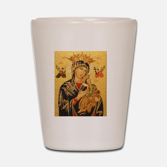 Our Lady of Perpetual Help Shot Glass